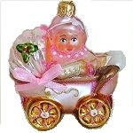 Baby in Carriage Pink