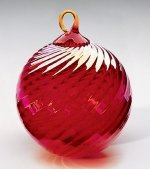 Red Optic Christmas Ornament