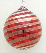 Red & Platinum Twist Christmas Ornament