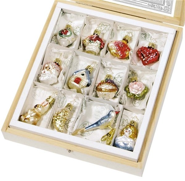 Traditional Polish Wedding Gifts: Inge Glas Hand Blown Ornament Sets